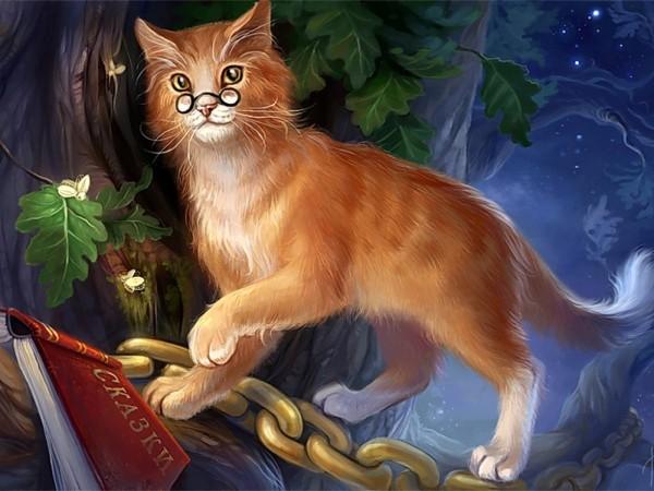 Кот ученый из сказки Пушкина