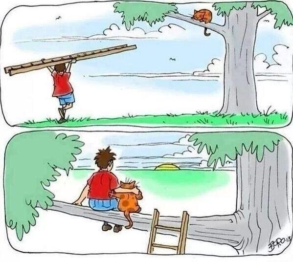Комикс с котом и человеком