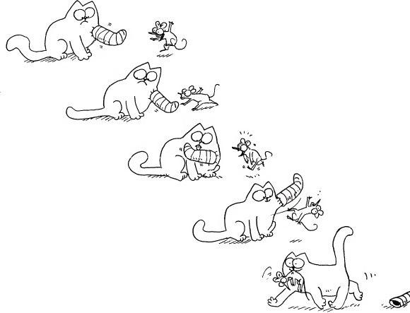 Кот Сайона и мышонок