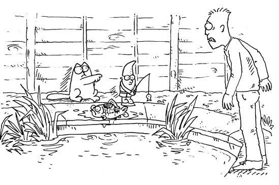 Кот Саймона и рыбалка