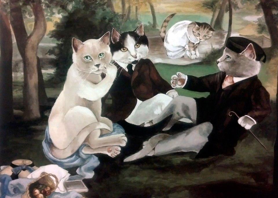 Коты картины художников