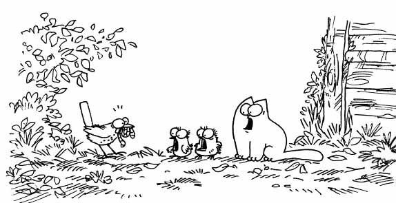 Кот Саймона и птенцы