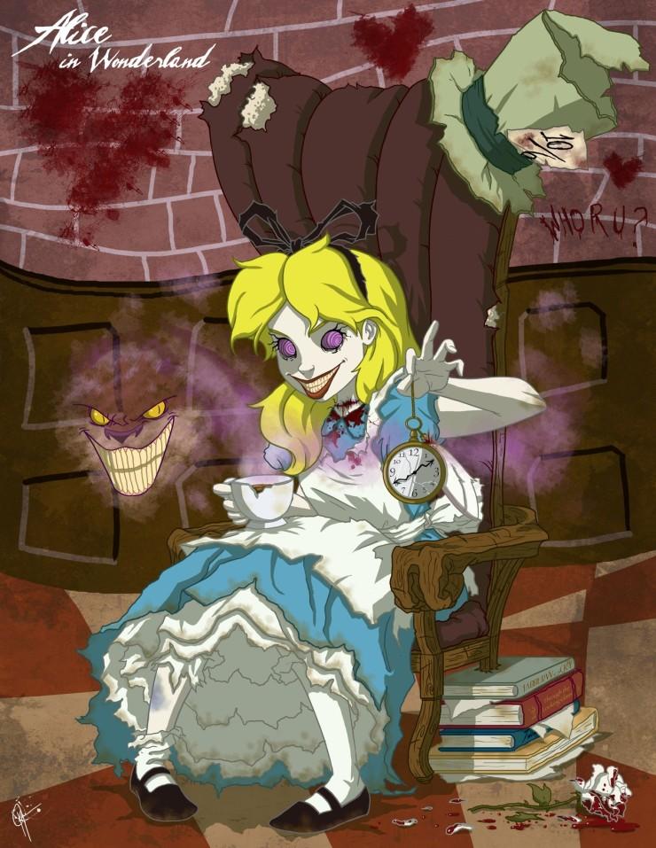 Алиса и чеширский кот дисней картинки