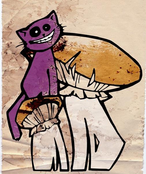 Забавный Чеширский кот из Алисы