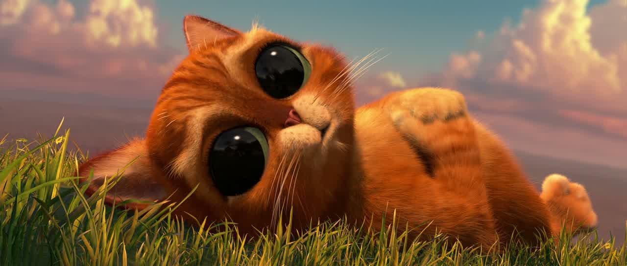 Шрек с котом мультик