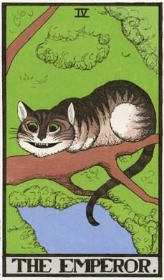 Карты таро с Алисой и Чеширским котом