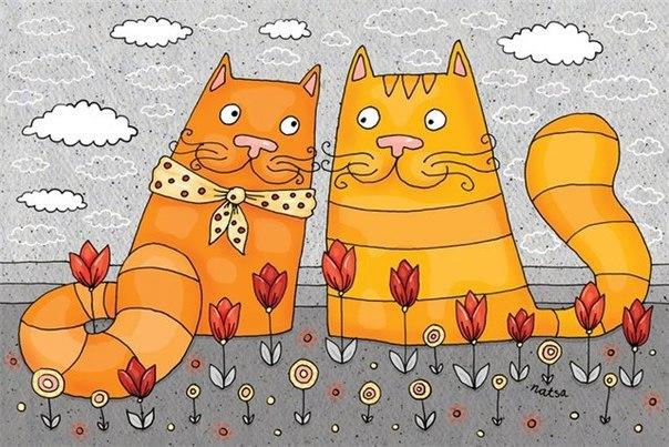 Коты иллюстрации художника