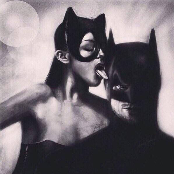 Женщина кошка и Бетмен