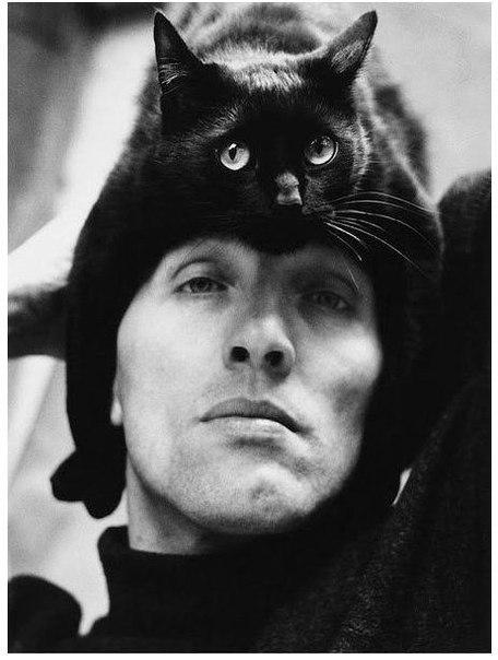 Герберт Тобиас и его кот, 1962 г.