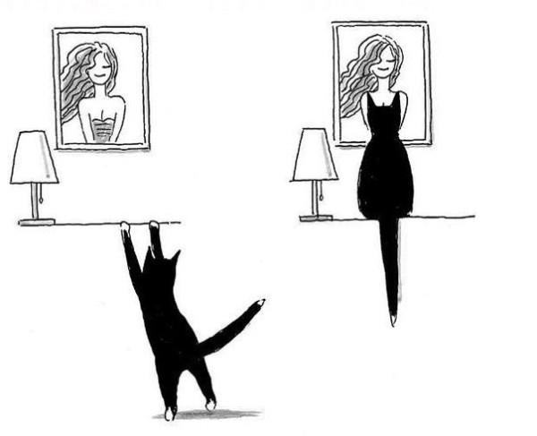 Черный кот Арт