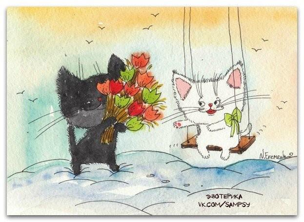 Кошачьи иллюстрации