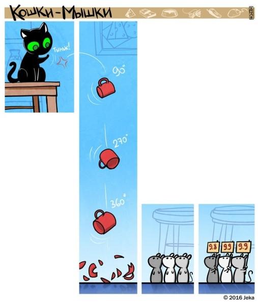Комикс про кошку и мышей